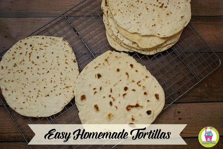 Easy Homemade Tortilla Recipe from FunHappyHome.com