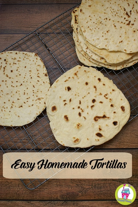 Easy Homemade Tortillas Recipe from FunHappyHome.com