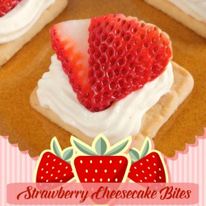 Strawberry Cheesecake Bites from FunHappyHome.com 300
