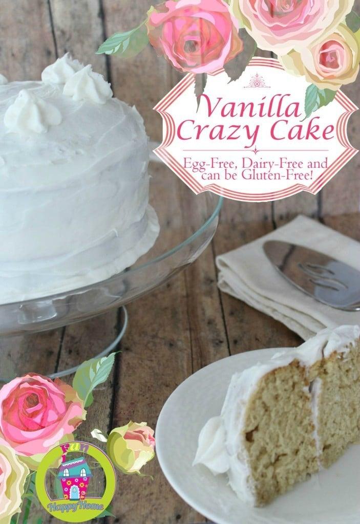 Vanilla Crazy Cake from FunHappyHome.com