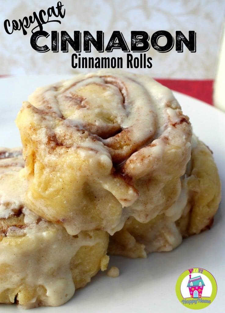 Cinnabon Cinnamon Rolls FunHappyHome.com