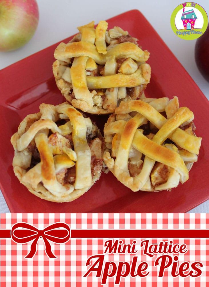 Mini Apple Pies FunHappyHome.com
