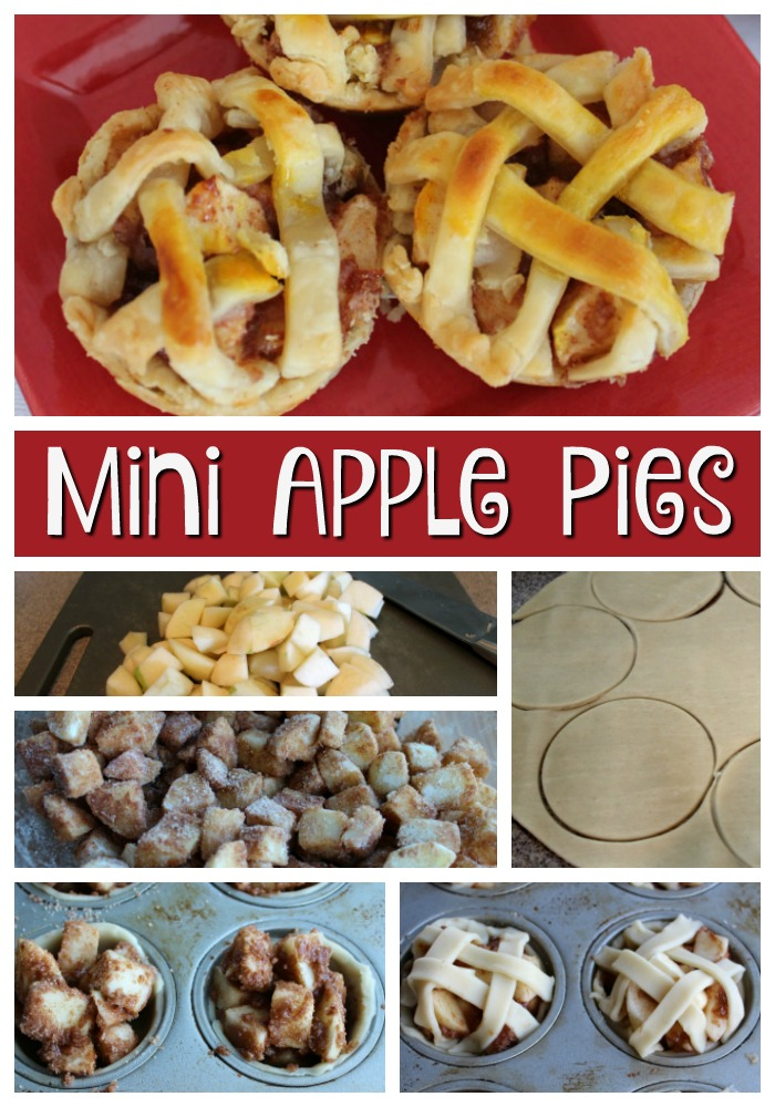 These mini apple pies are easy to make and oh-so-delicious! The addition of the lattice crust on top will have you reminiscing about grandma's apple pie!