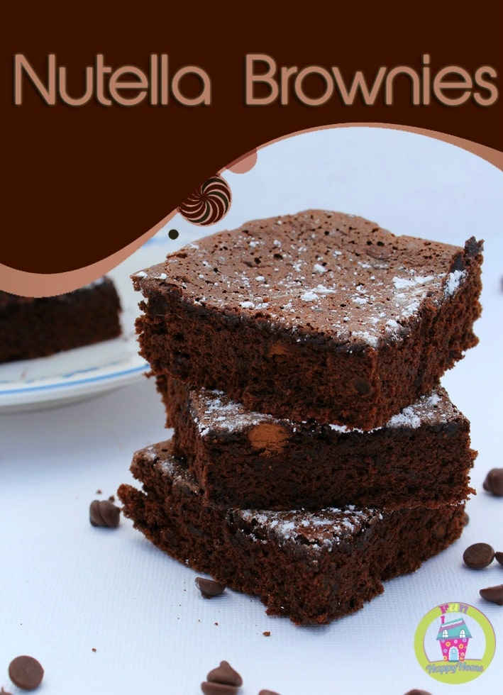 Nutella Brownies {Only 2 Ingredients}