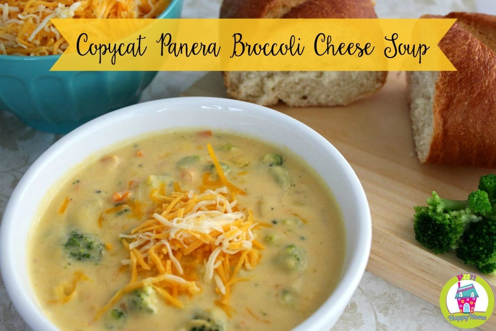Panera Broccoli Cheese Soup Recipe from FunHappyHome.com