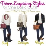 Fall Fashion: One Basic Outfit…Three Layering Styles