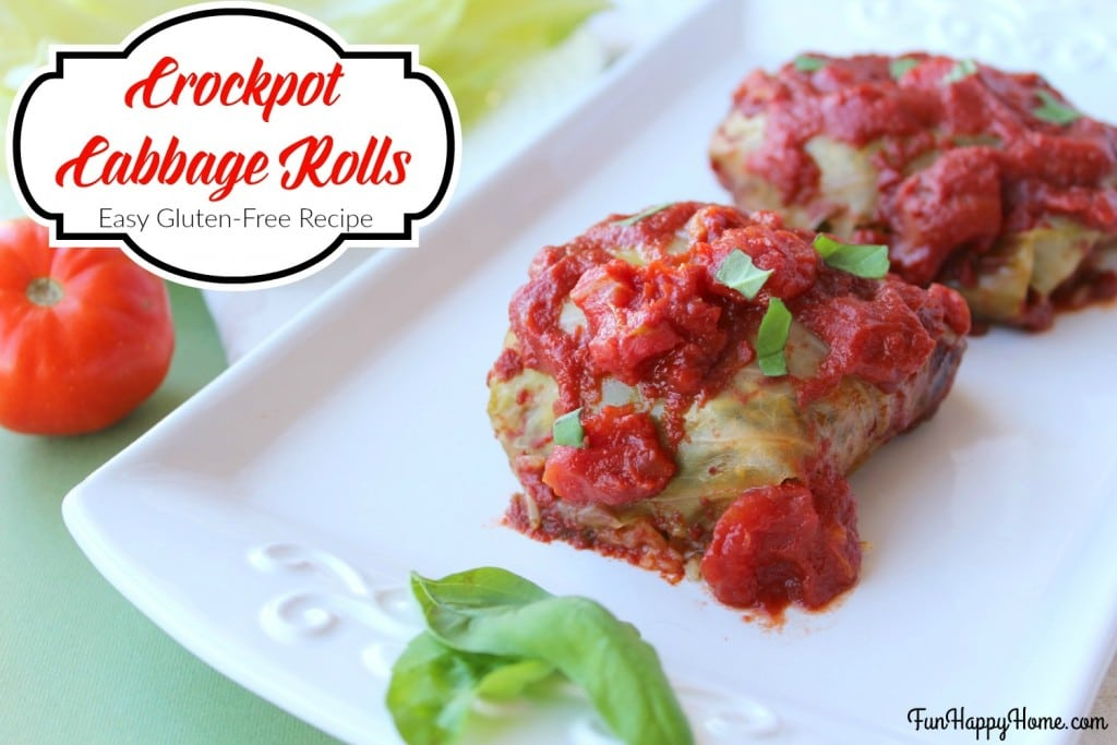Crockpot Cabbage Rolls Gluten-Free Recipe from FunHappyHome.com