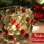 Rainbow Rays Christmas Candle {Easy Christmas Craft Kids Will Love}