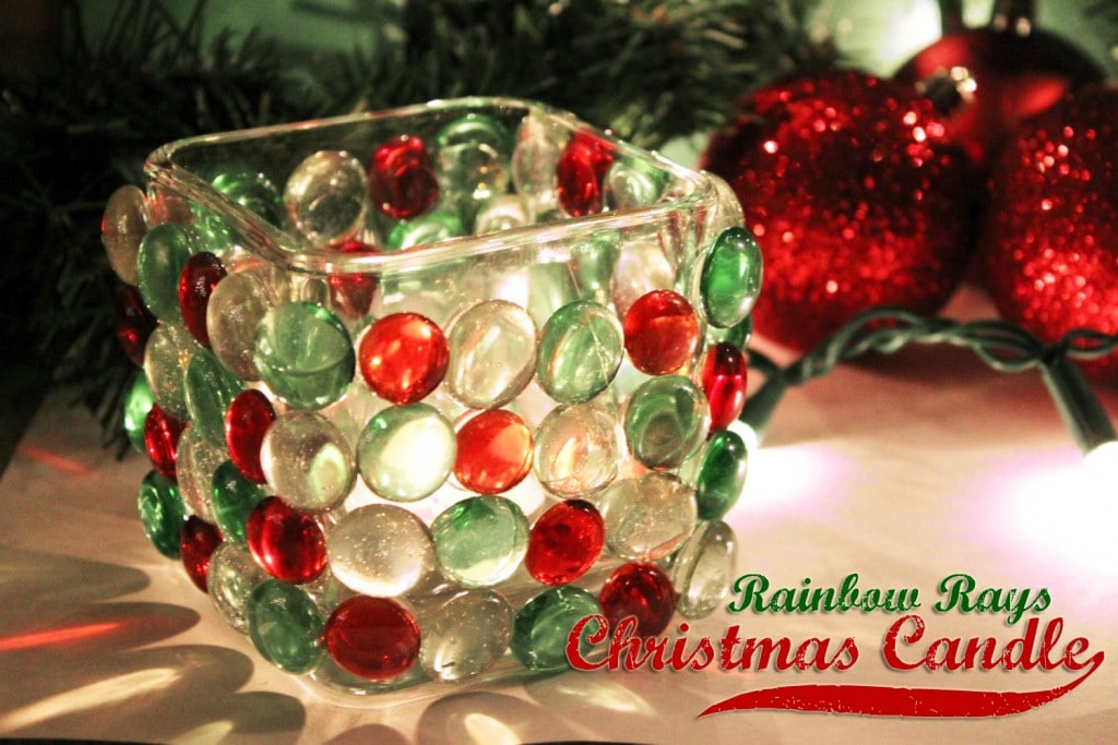 Rainbow Rays Christmas Candle {Easy Christmas Craft}