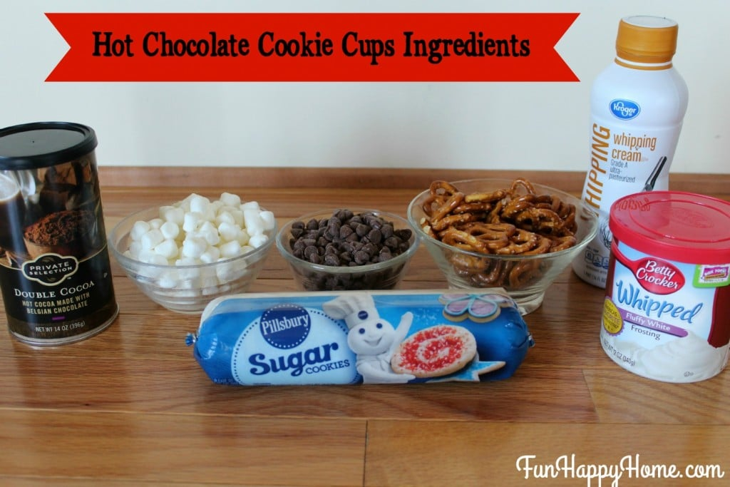 Hot Chocolate Cookie Cups Ingredients
