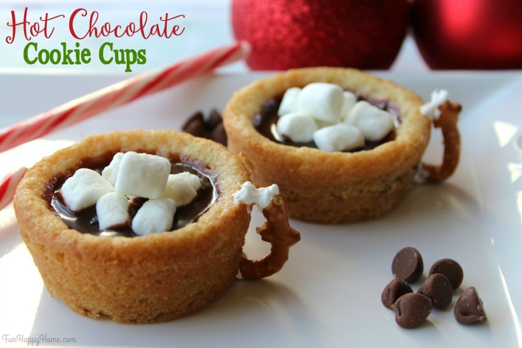 Hot Chocolate Cookie Cups Recipe FunHappyHome.com