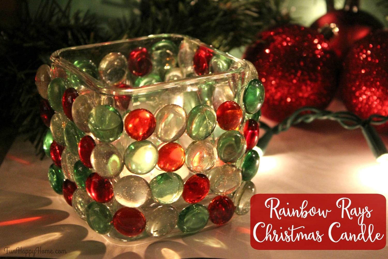 rainbow rays christmas candle easy christmas craft fun happy home