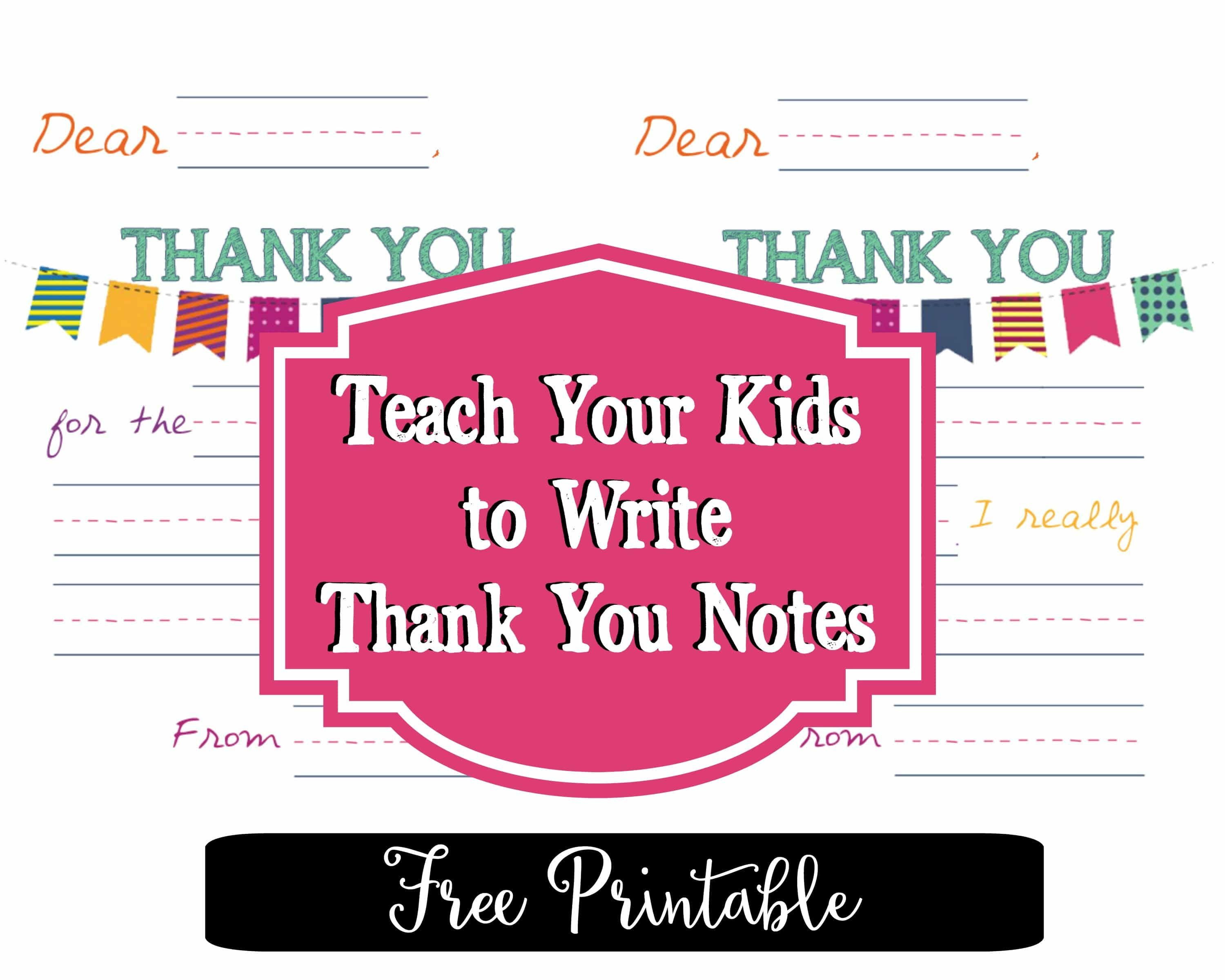 Teach Your Kids To Write Thank You Notes  Free Printable Religious Thank You Cards