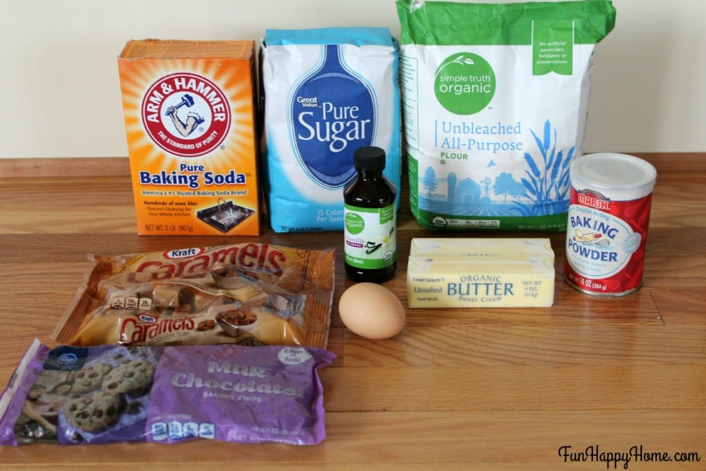 Twix Thumbprint Cookie Ingredients FunHappyHome.com