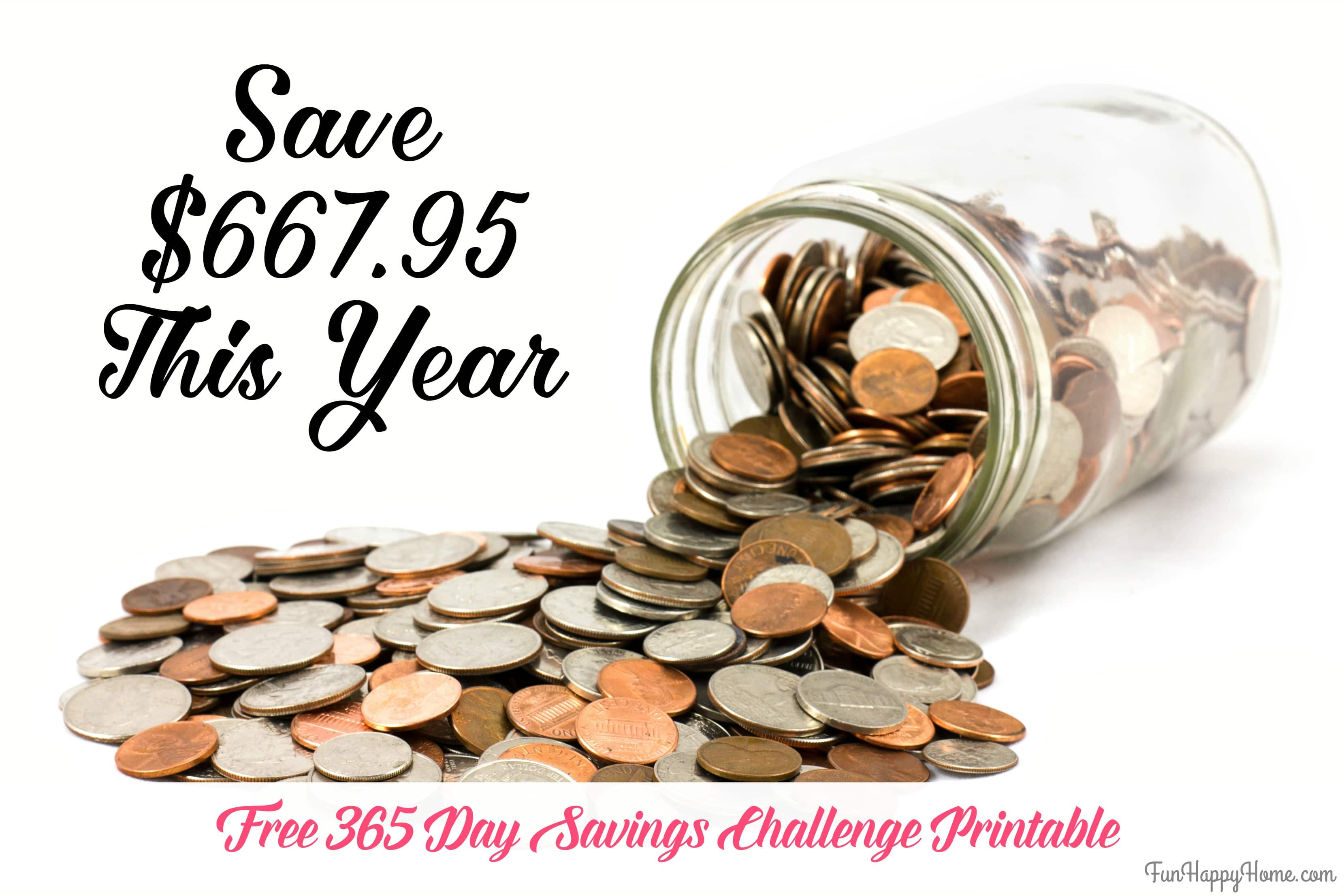 365 Day Penny Saving Challenge A Free Printable