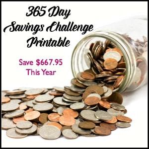 365 Day Savings Challenge And A Free Printable Fun Happy Home