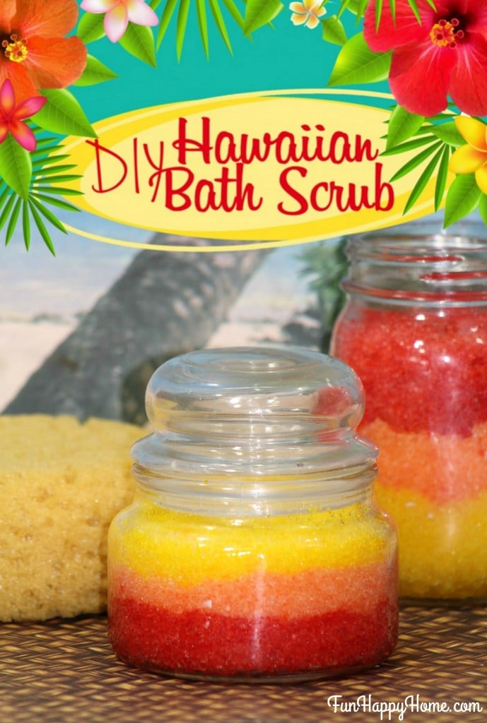 DIY Hawaiian Bath Scrub from FunHappyHome.com