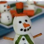 Snowman Snack {A Healthy FUN Winter Treat}