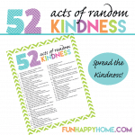 101 Random Acts of Kindness {Plus a FREE 52 Random Acts of Kindness Printable}