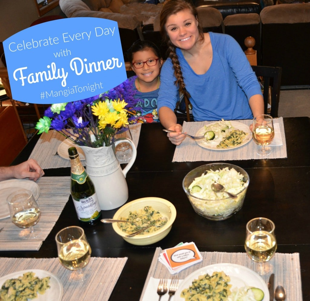 Celebrate Every Day with Family Dinner #MangiaTonight {Free Dinner Conversation Starters Printable}