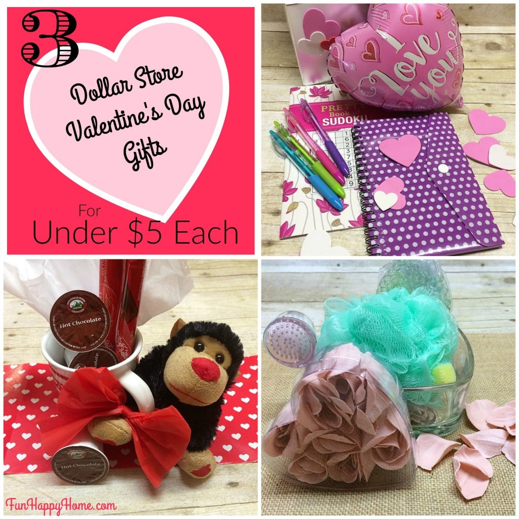 Dollar Store Valentine's Day Gifts for Under $5 Each from FunHappyHome.com
