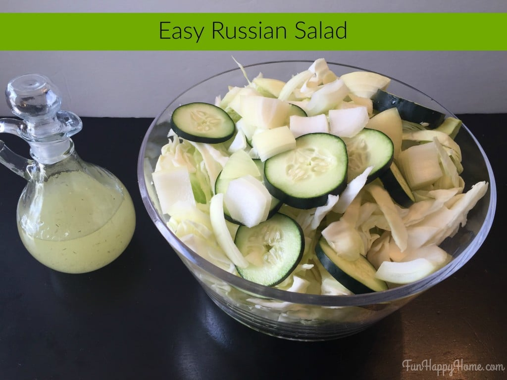 Easy Russian Salad Recipe with Homemade Dressing