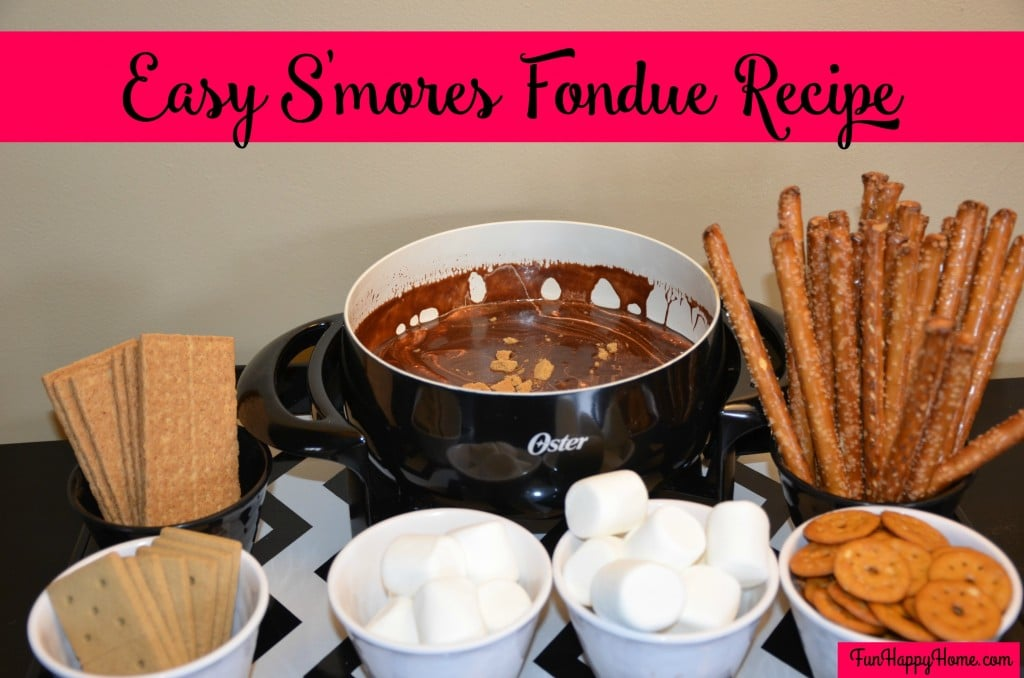 Easy S'mores Fondue Recipe from FunHappyHome.com