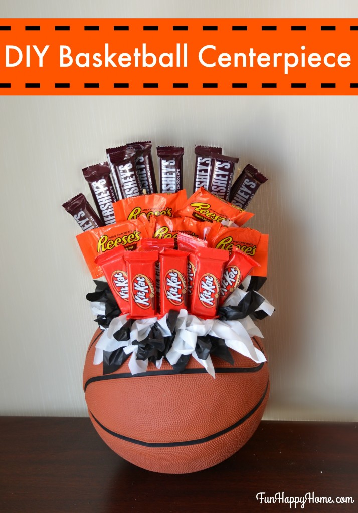 DIY Basketball Centerpiece from FunHappyHome.com