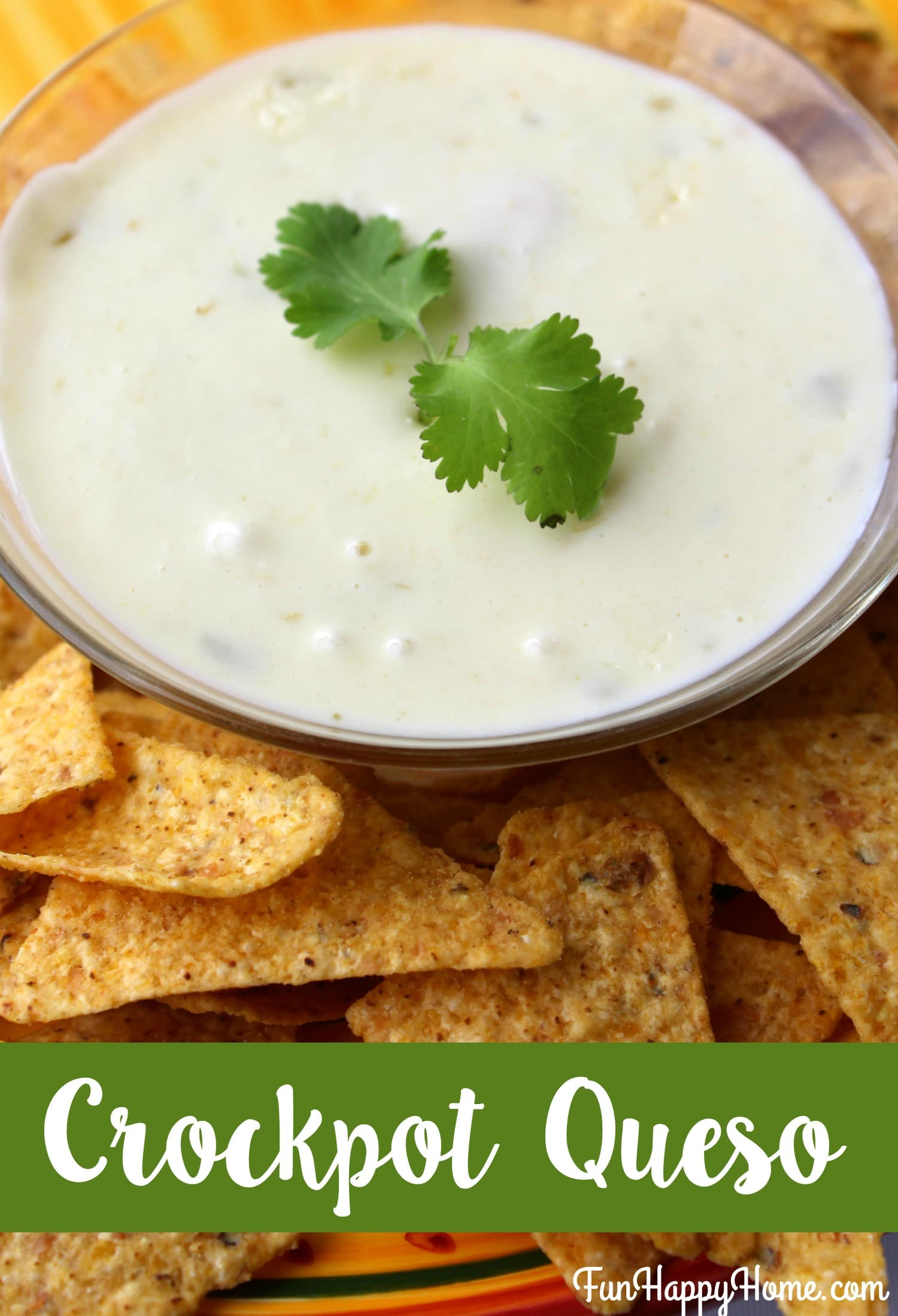 Easy Crockpot Queso Recipe from FunHappyHome.com