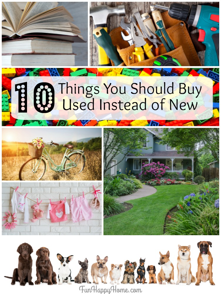 10 Things You Should Buy Used Instead of New from FunHappyHome.com