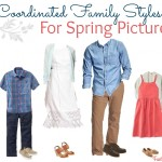 Coordinated Family Styles for Spring Pictures
