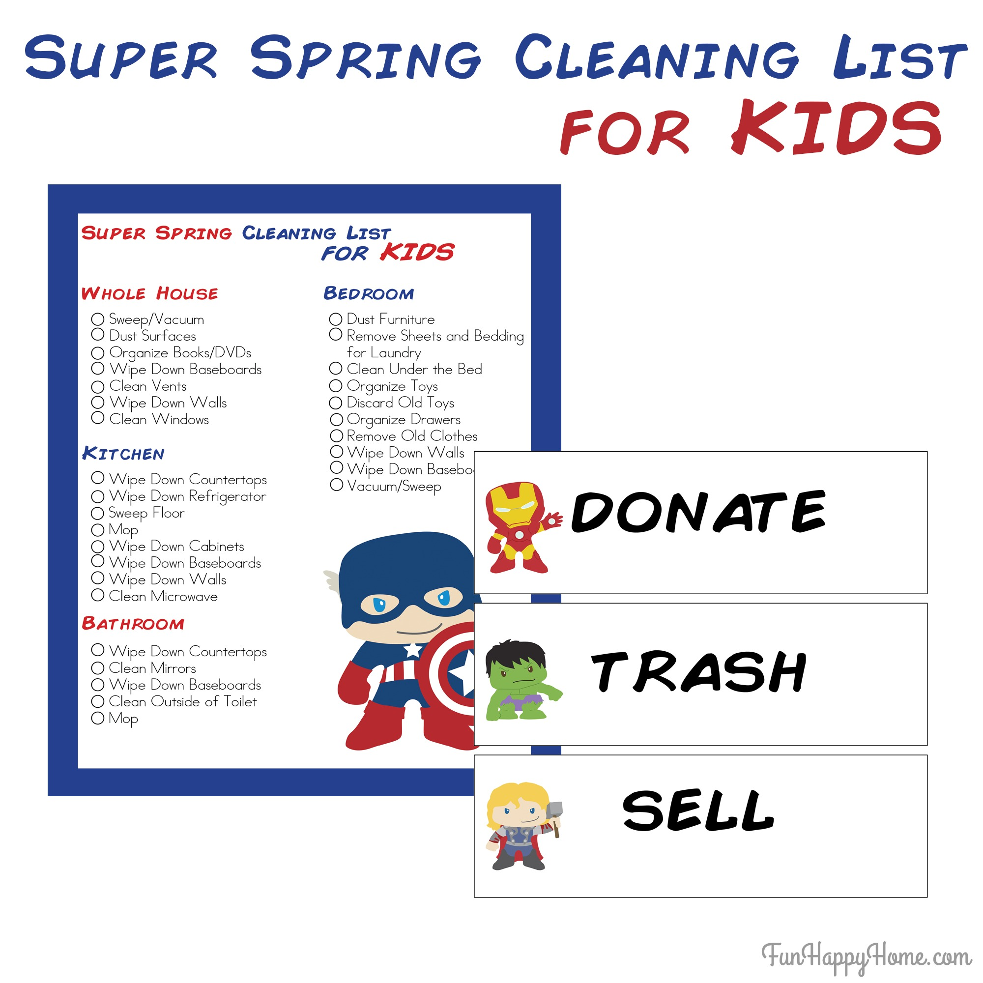 Free Printable Kitchen Cleaning List