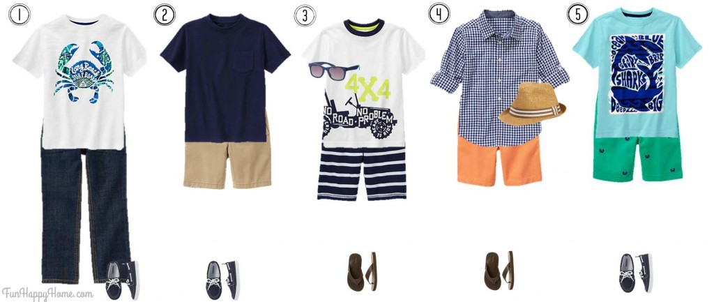 Boys Mix & Match Fashion from Gymboree Outfits 1-5 FunHappyHome.com