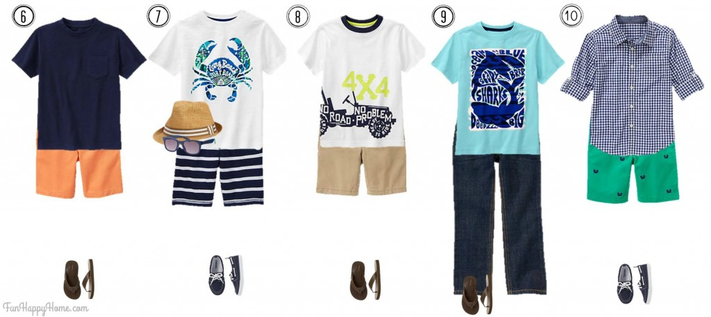 Boys Mix & Match Fashion from Gymboree Outfits 6-10 from FunHappyHome.com
