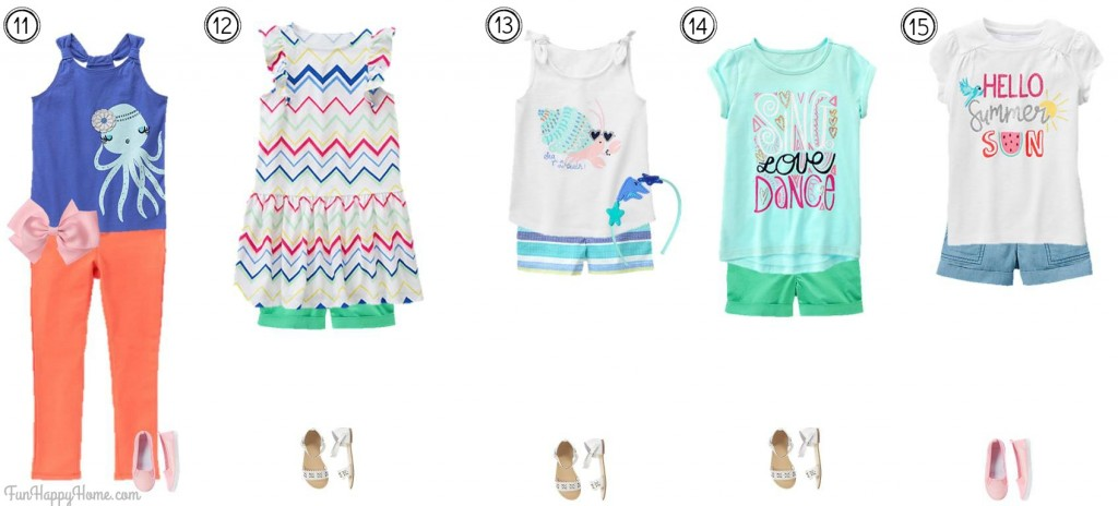 Girls Mix & Match Fashion from Gymboree Outfits 11-15 FunHappyHome.com