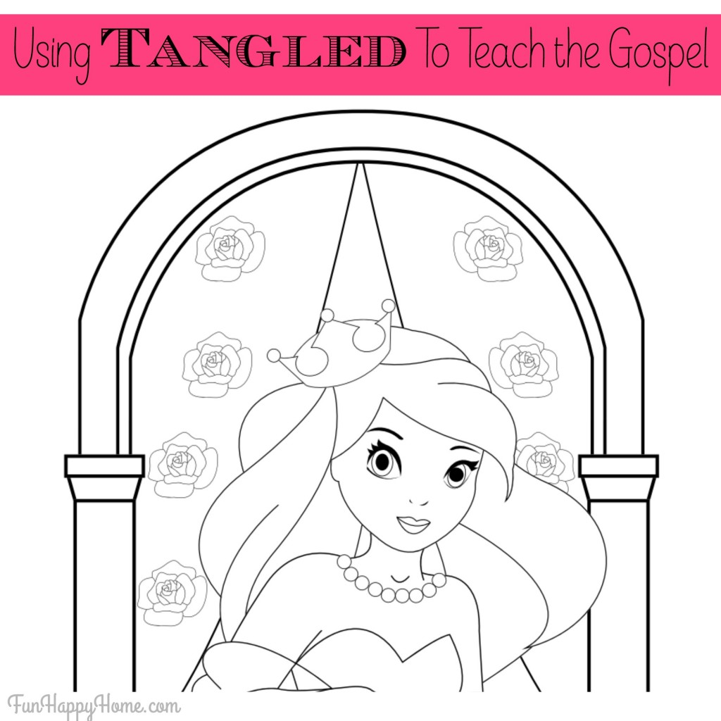 Using Tangled to Teach the Gospel {Plus A Free Printable from FunHappyHome.com}