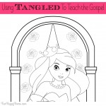 Using Tangled or Rapunzel to Teach the Gospel {Plus a Free Printable Coloring Page}