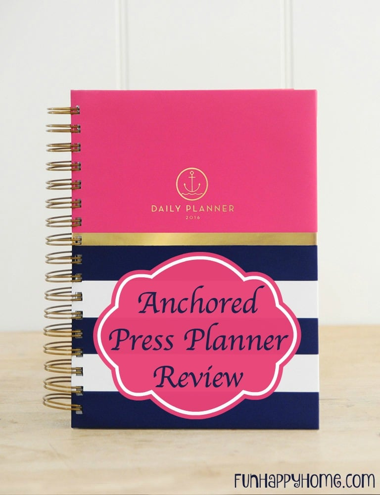 2016 Anchored Press Planner Review from FunHappyHome.com