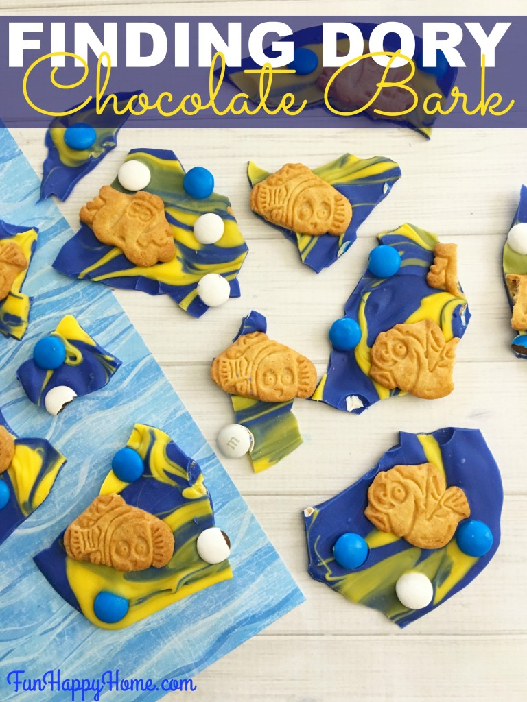 Finding Dory Chocolate Bark from FunHappyHome.com