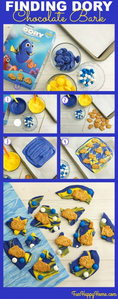 Finding Dory Fun Chocolate Bark from FunHappyHome.com