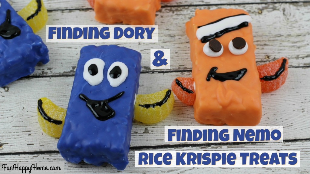 Finding Dory and Finding Nemo Rice Krispie Treats