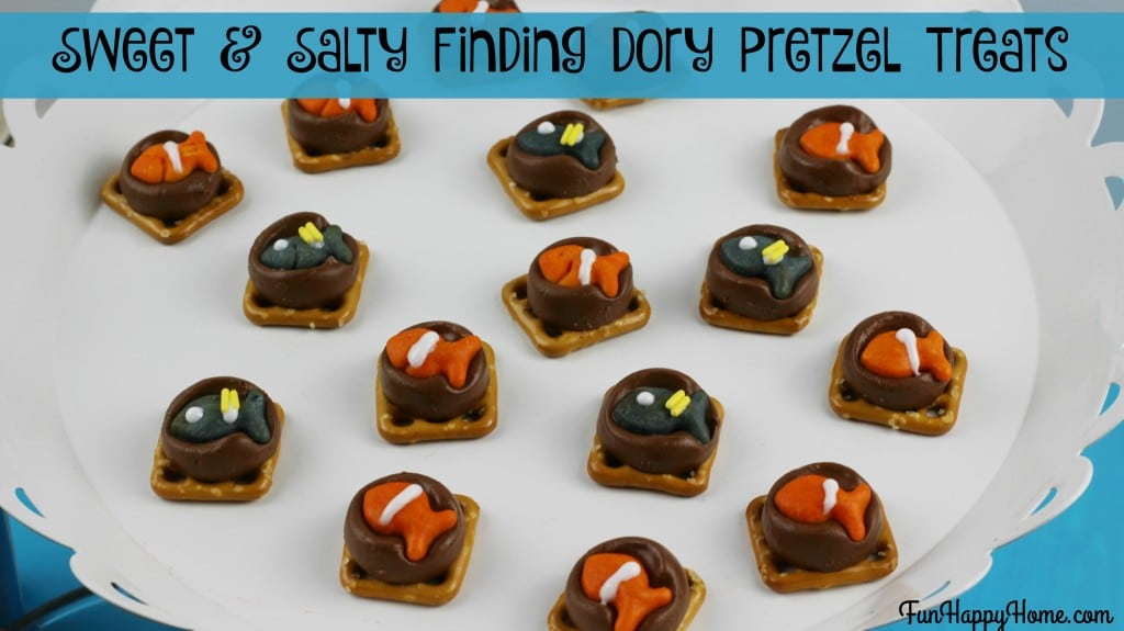 Finding Dory Pretzels {A Sweet and Salty Disney Themed Treat}