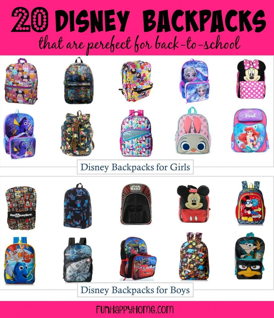 20 Disney BackPacks that are perfect for back-to-school...and you don't have to leave home to buy them!