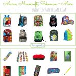 School Supplies for Gamers: Mario, Minecraft, Pokemon and More