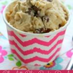 Chocolate Chip Cookie Dough Frozen Yogurt Recipe