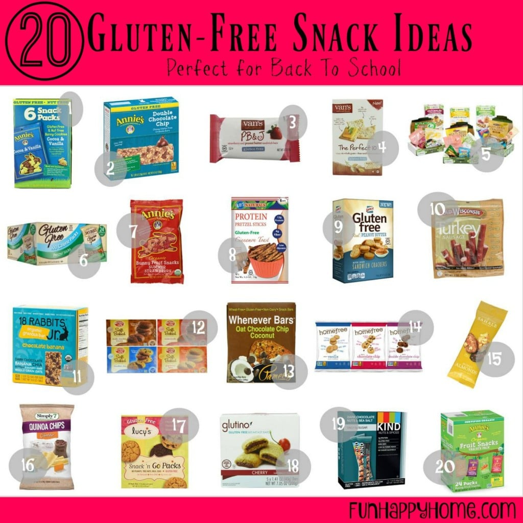 20 Gluten Free Snack Ideas That Are Perfect for Back To School