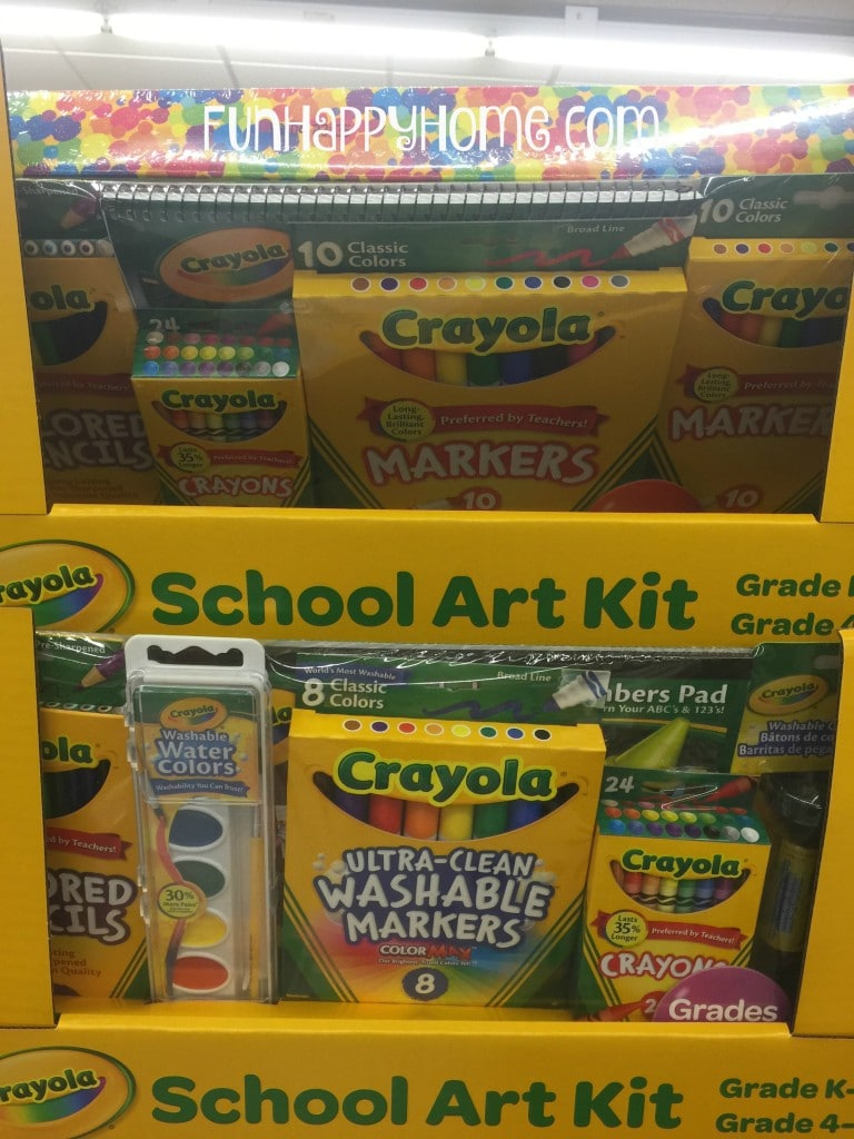 Crayola School Art Kits for $8.99 at Aldi