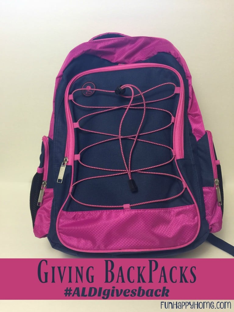 Giving BackPacks: Making A Difference For Kids In Need #ALDIgivesback