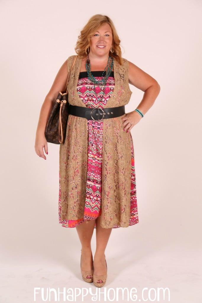 LuLaRoe Lucy Skirt worn as a dress with a LuLaRoe Joy over it