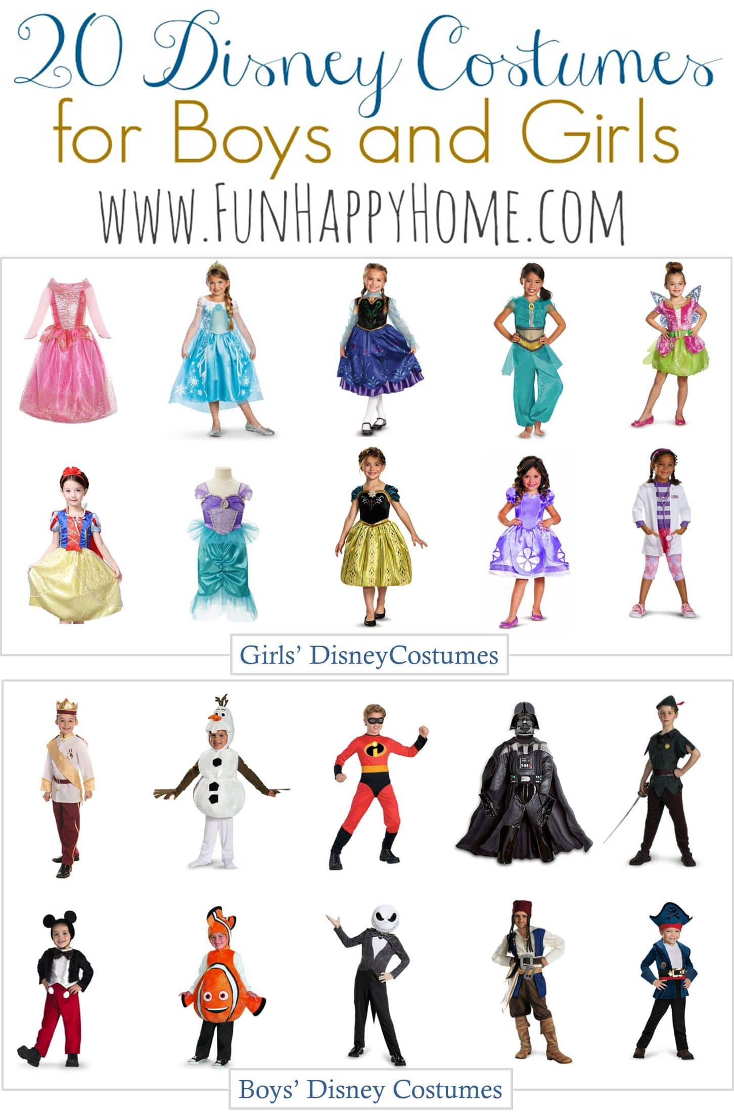sc 1 st  Fun Happy Home & Disney Costumes for Kids: Disney Halloween Costumes Kids Will Love!